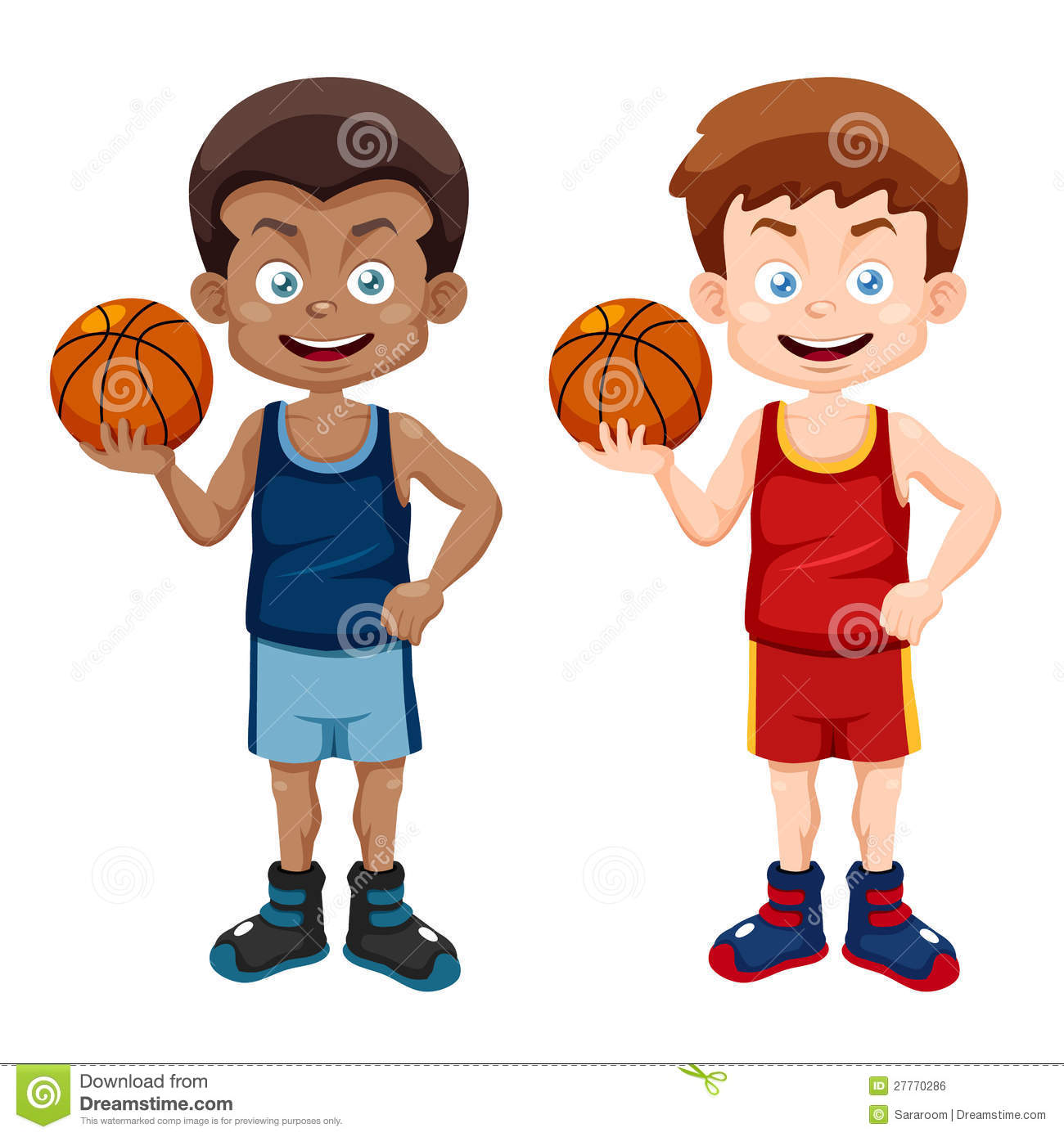 Cartoon Basketball Player Stock Photos.