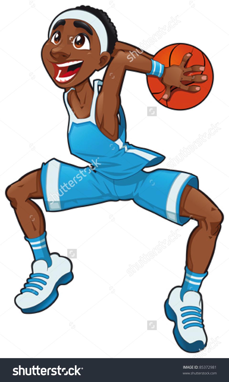 Basketball Boy Funny Cartoon Vector Isolated Stock Vector 85372981.