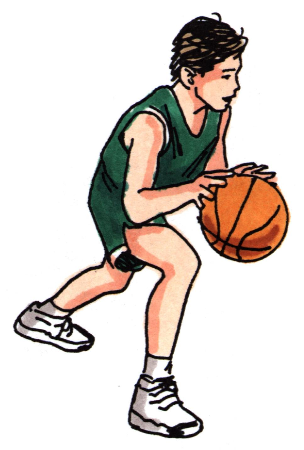 cartoon boy basketball player clipart blue - Clipground