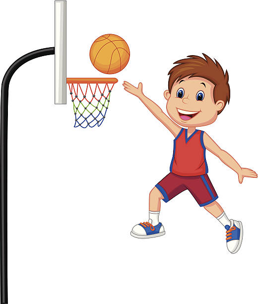 Basketball Hoop Cartoon Clip Art, Vector Images & Illustrations.