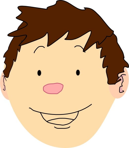 Boy Face clip art Free vector in Open office drawing svg ( .svg.