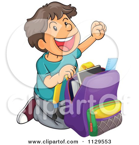 Boy With School Bag Clipart (72+).
