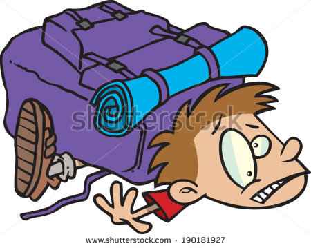 Gloomy Young Cartoon Boy Wearing Backpack Stock Vector 113927068.