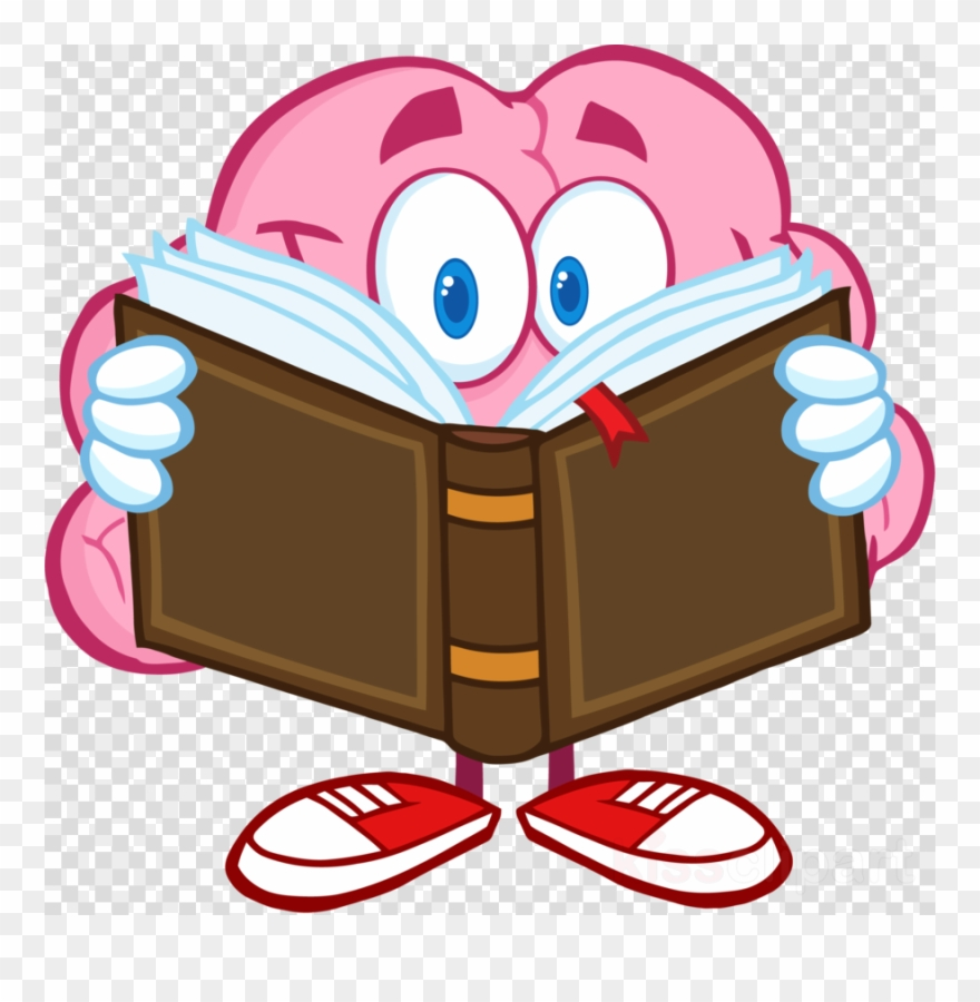 Cartoon Brain Reading A Book Clipart Royalty.