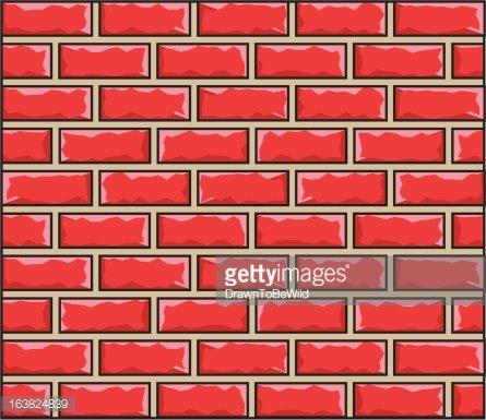Cartoon Brick Wall texture pattern Clipart Image.