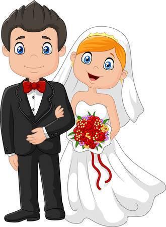 Cartoon bride and groom clipart 3 » Clipart Portal.