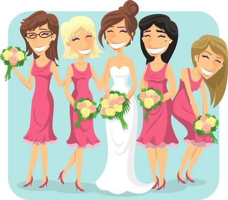 128 Bridesmaid Cartoon Stock Illustrations, Cliparts And Royalty.