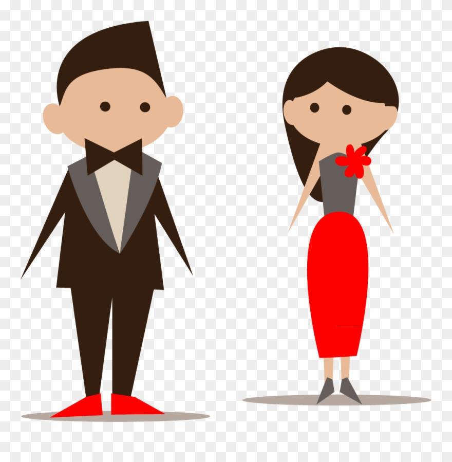 Bridesmaid Wedding Invitation Icon Cartoon Bride And.