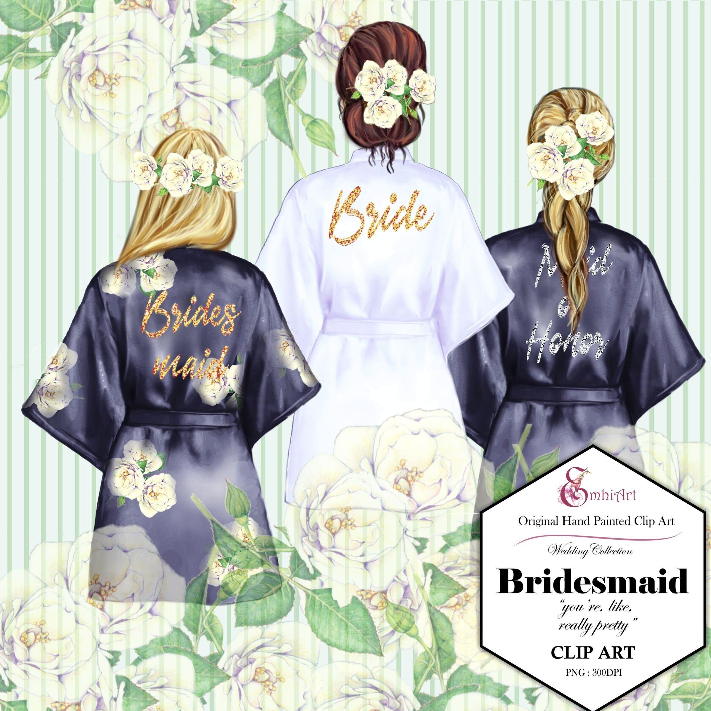 cartoon bridesmaid clipart #5