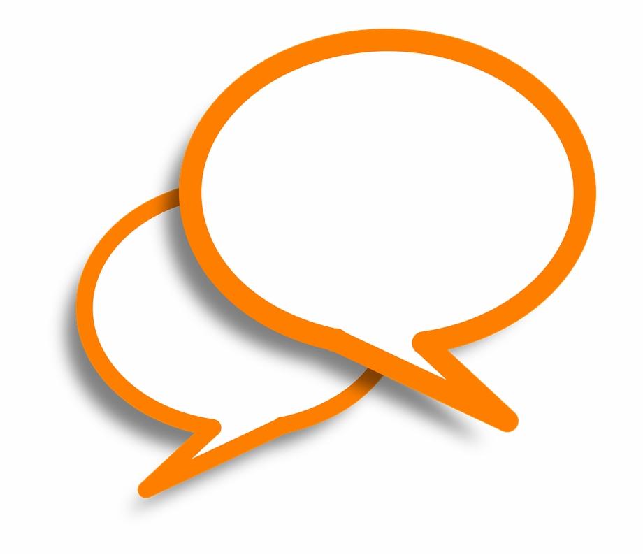 Speech Bubbles, Comments, Orange, Bubble, Speech, Talk.