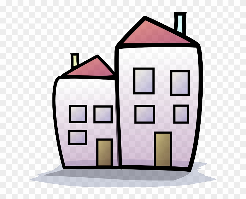 Buildings, Building, House, Home, Cartoon, Homes.