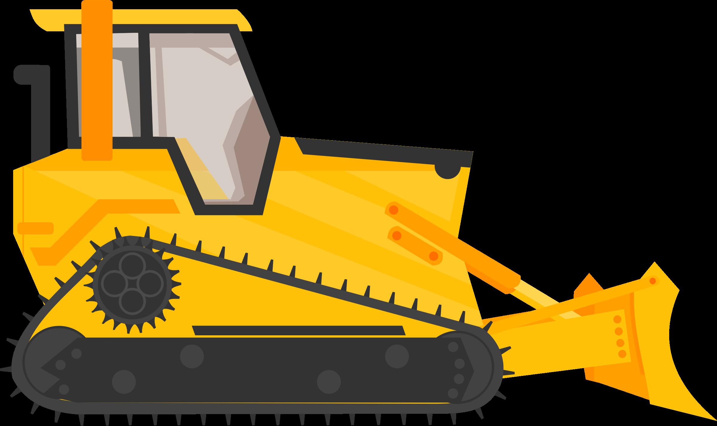 Bulldozer Excavator Heavy Machinery Construction.