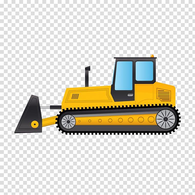 Bulldozer Excavator , Cartoon bulldozer transparent.