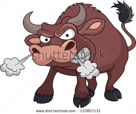 Cartoon Bull Stock Images, Royalty.