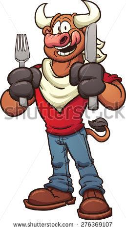 Cartoon Bull Stock Images, Royalty.