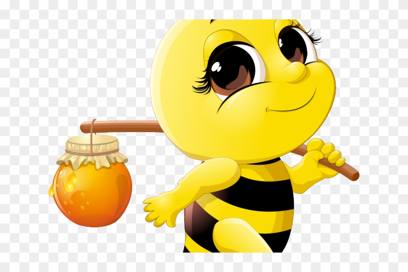 Bee Clipart Drinking.