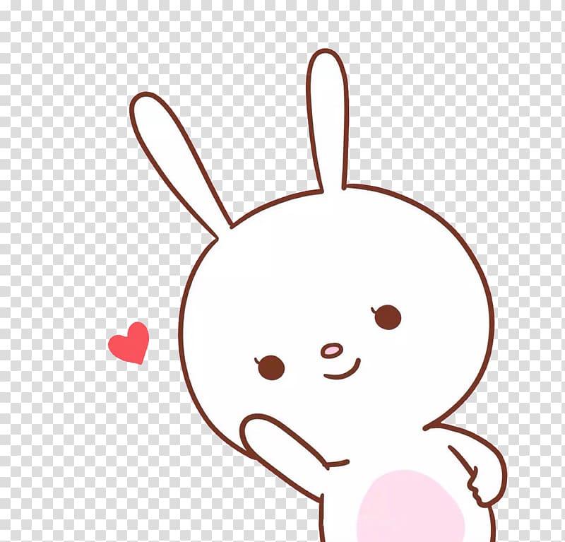 White and pink bunny illustration, Cuteness Hello Kitty Lock screen.