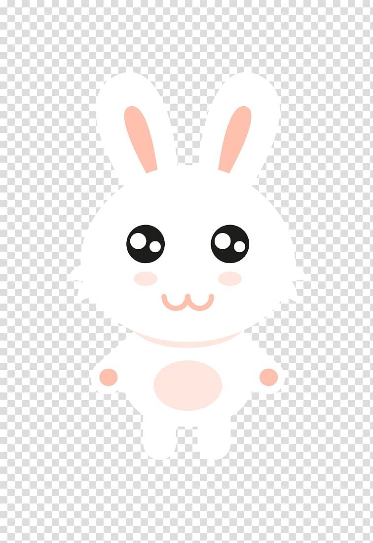Rabbit Easter Bunny Cartoon , Cartoon bunny transparent background.