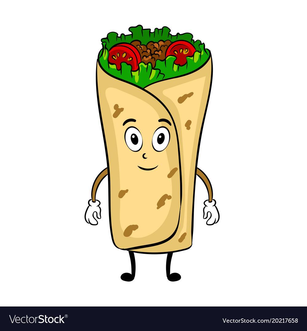 Burrito cartoon pop art.
