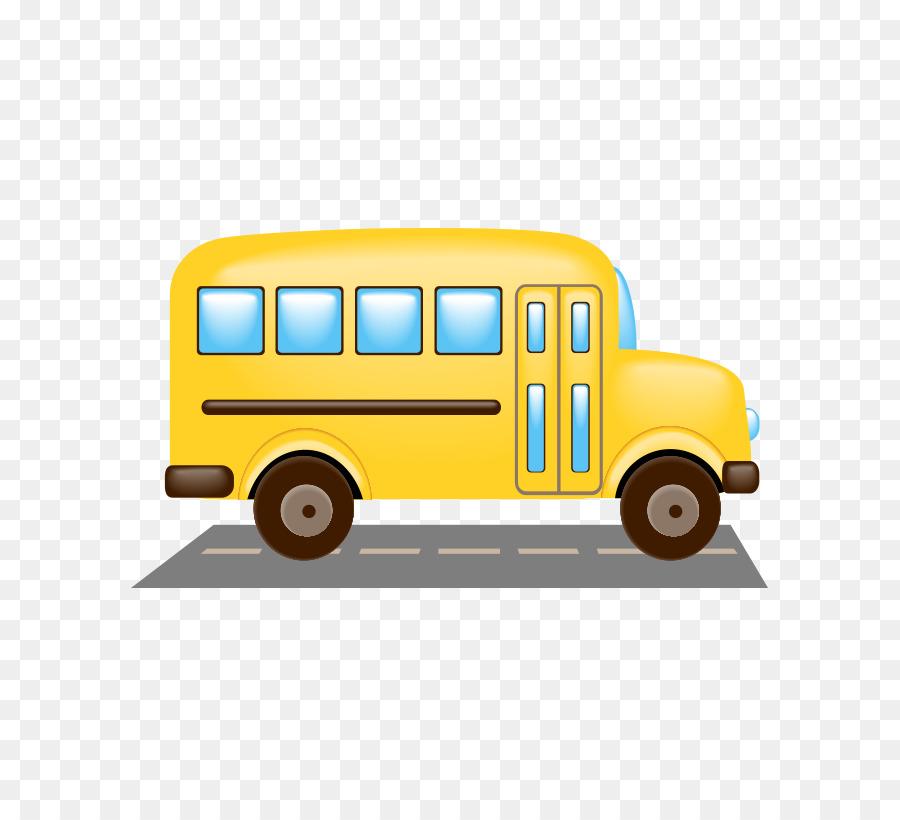 Cartoon School Bus png download.