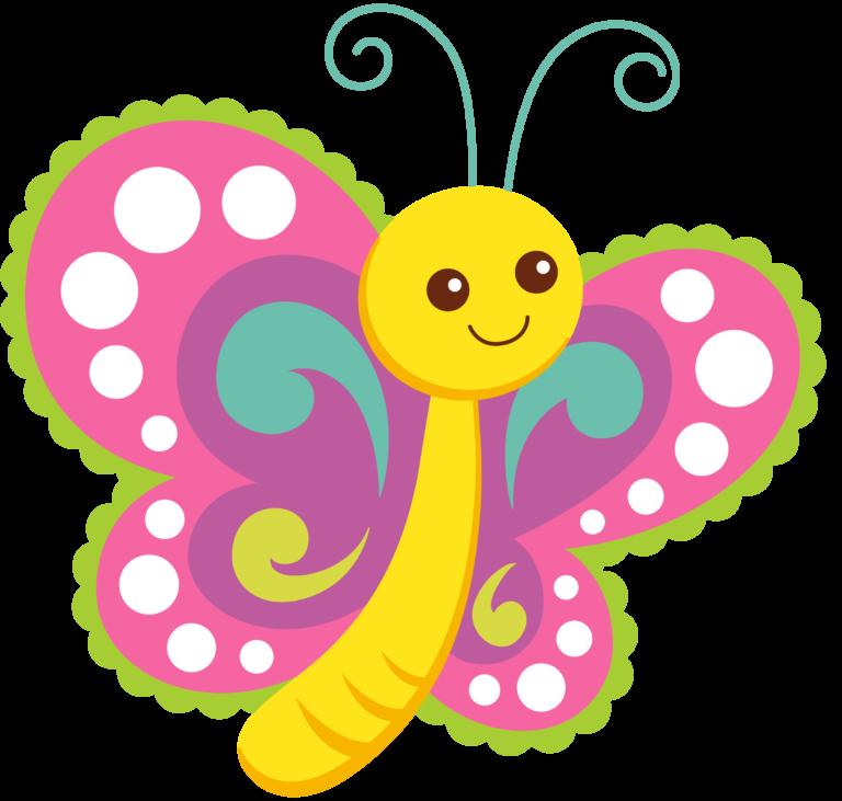 Cartoon Butterflies Clipart.