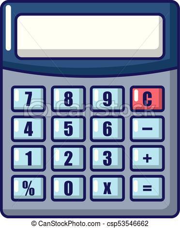 Calculator icon, cartoon style..