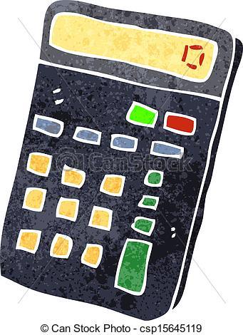 retro cartoon calculator.