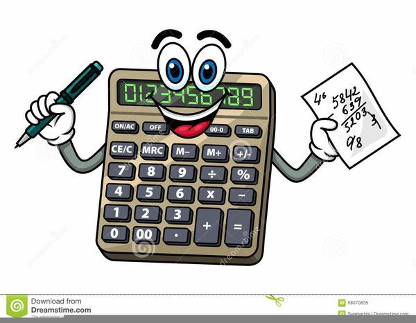 Calculator Cartoon Clipart.