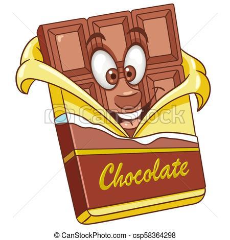 Cartoon chocolate bar.