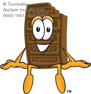 Clipart Cartoon Chocolate Bar Sitting.