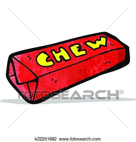 Cartoon candy chew bar Clipart.