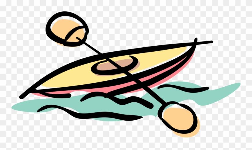 Kayaker Kayaks Rapids With Paddle Image Of.