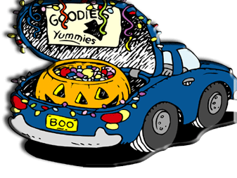 Trunk or treat car clipart free.