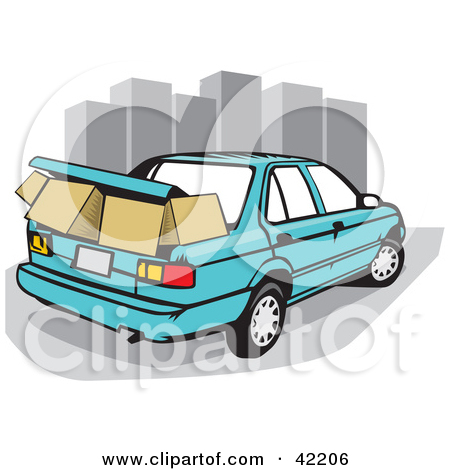 Cartoon Car Trunk Clipart.