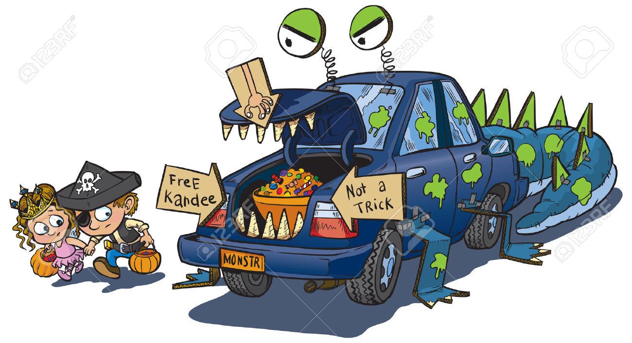 Cartoon Car Trunk Clipart.