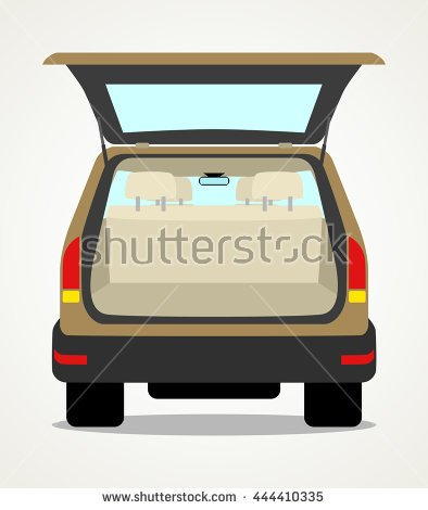 Empty Car Trunk Clipart.
