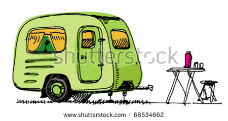 Cartoon Caravan Stock Images, Royalty.