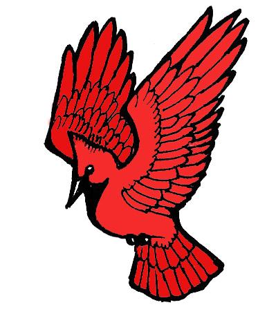 Cartoon Cardinal Clipart.