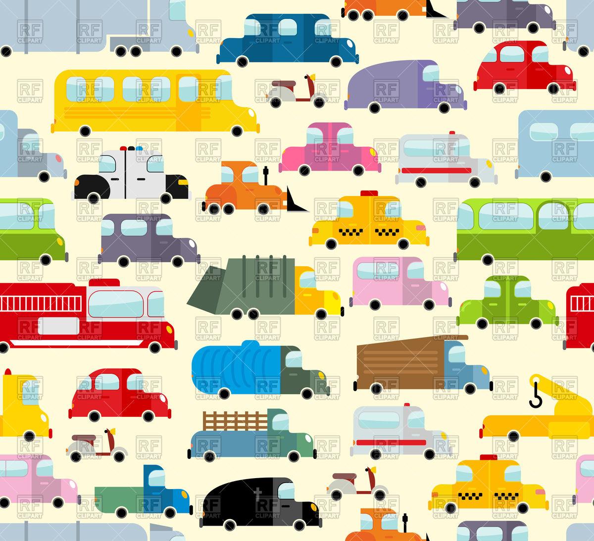 Cartoon car pattern Stock Vector Image.