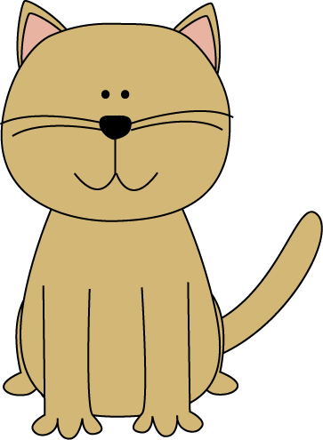 Cute Cartoon Cat Clip Art.