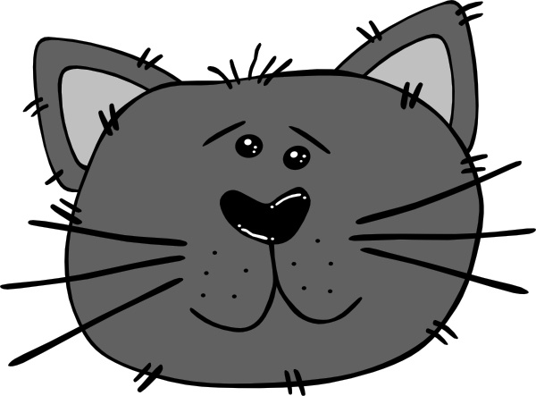 Cartoon Cat Face clip art Free vector in Open office drawing.