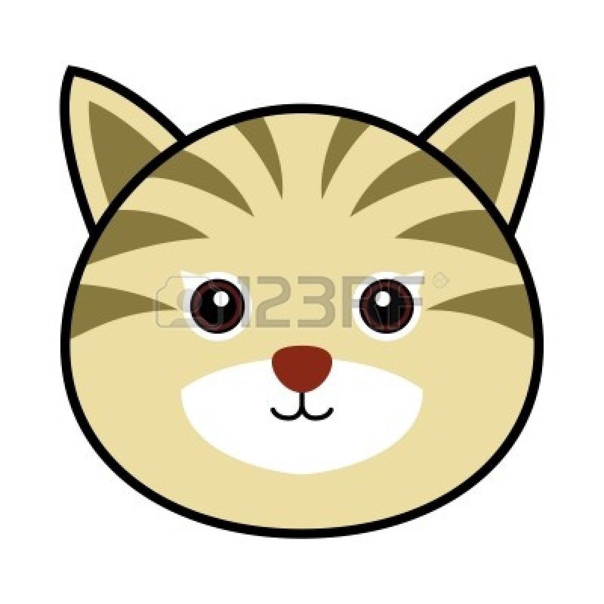 Cute Cartoon Cat Face.