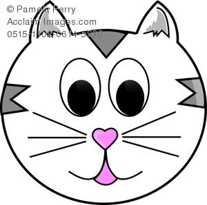 Cartoon Cat Face Clipart.