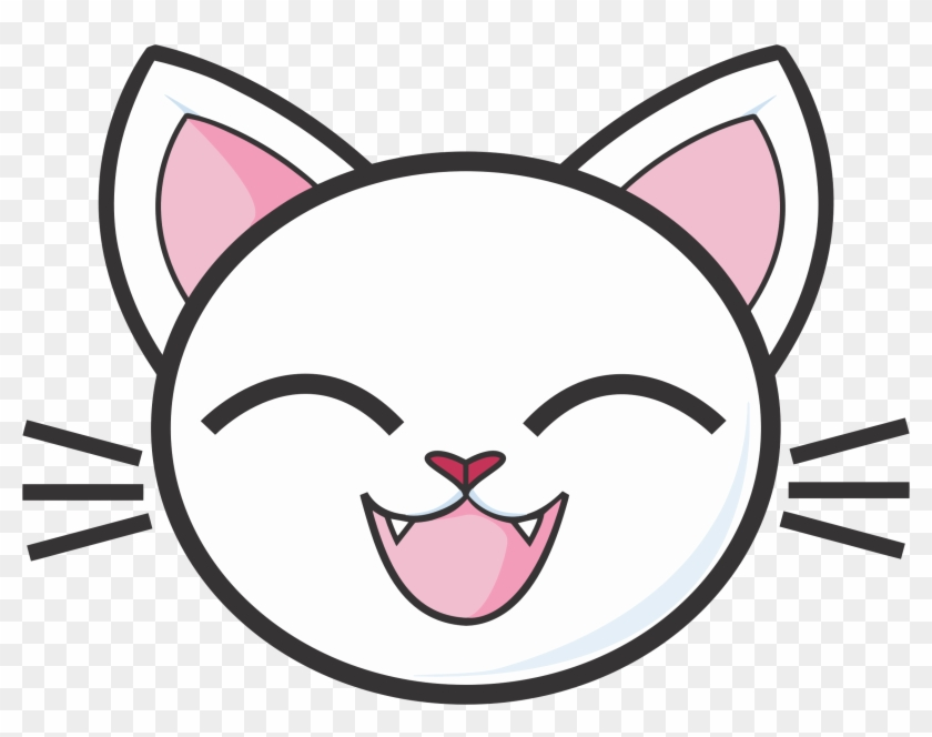 Cat Face Cartoon Png, Transparent Png.