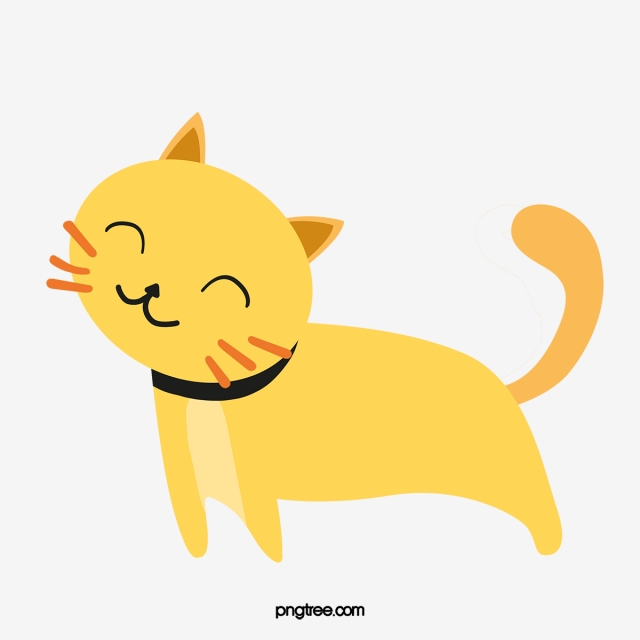 Lazy Cat, Cat Clipart, Yellow, Cartoon PNG Image and Clipart for.