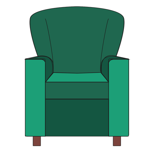 Club chair cartoon.