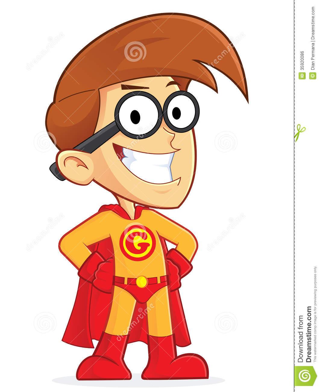 Superhero Cartoon Characters Clipart.