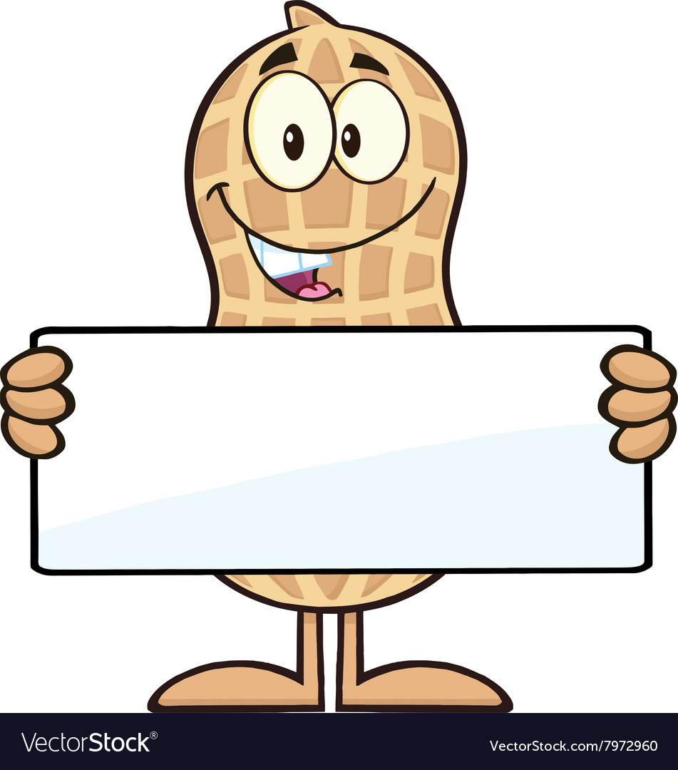Royalty Free RF Clipart Peanut Cartoon Character.