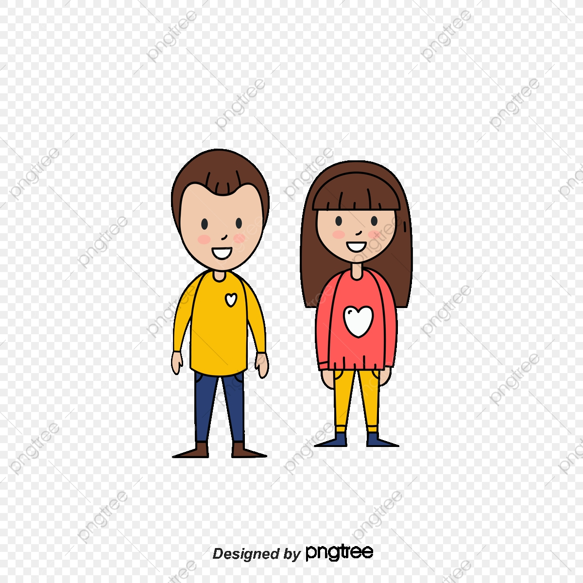 Cartoon Characters Mom And Dad, Mom And Dad, Cartoon, Character PNG.