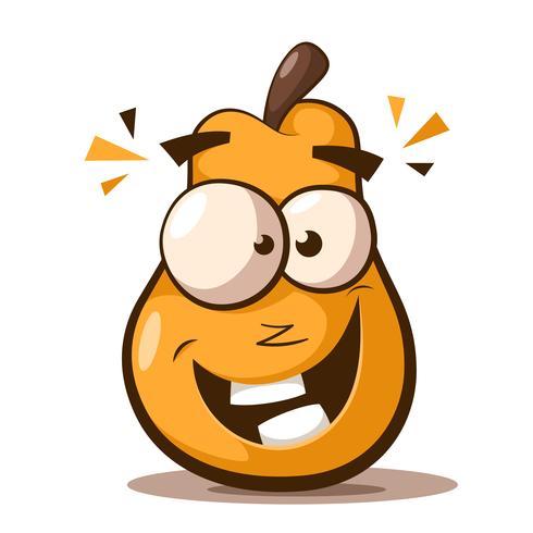Cute, funny pear cartoon characters..